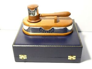 Padgham & Putland 1970 Sterling Silver Wood Gavel Auctioneer Mason PRIZE Cased