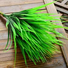 New Green Artificial Plants Plastic Grass Leaves For Home Shop Garden Decoration