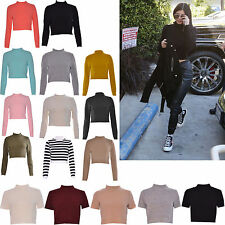 Women's Short Sleeve Polo Neck No Pattern Jumpers & Cardigans