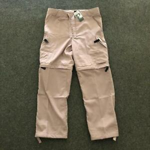 BNWT DEADSTOCK NIKE ACG POLYESTER SAND CREAM CUT OFF CARGO TROUSERS SHORTS XL