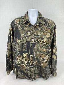 Men's VTG Ranger Long Sleeve Camo Button Down Shirt Size XL