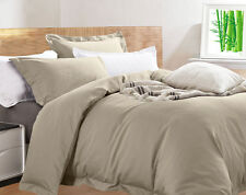 400 Thread Count Bamboo Quilt Cover Set 65 Bamboo& 35 Egyptian Cotton 3 Pieces King Mushroom