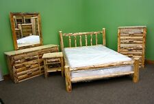 Rustic Pine Twin Log Bedroom Suite - 5 pc Set $2699 - Free Shipping