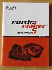 Handbuch Magix Music maker Generation 5 Multimedia Computer Programm