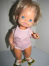 "Mattel Skating Doll Wind-Up 15"" tall Authentic Collectible Vintage 1982"