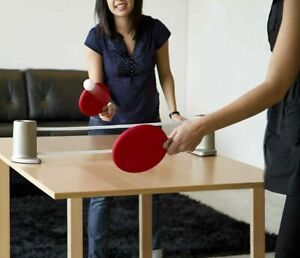Umbra Pongo Portable Retractable Ping Pong Table Tennis Set Red Black