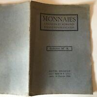 Catalogue Di Vendita Collezione Signora K.Monete Greche Romana Drouot Fév. 1923