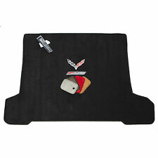 Chevrolet Corvette C7 Z06 Coupe Cargo Floor Mat - Jet Black - Flags & Z06 Logo