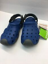 NEW CROCS MEN'S 202251-4HC-M8 Swiftwater Clog M  BLUE JEAN/SLATE GREY SIZE 8 M