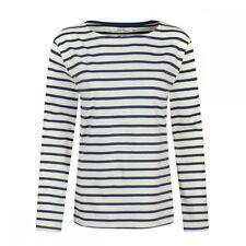 Seasalt Sailor Ladies Shirt (aw16) Uk18 Eu46 Us14 Breton Ecru Night
