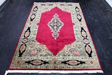 8.8X5.6 1960's Elegant Fine Hand Knotted Vegetable Dye Wool Kermann Oriental Rug