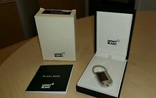 Montblanc Carbon Collection Stainless Steel Burgundy Carbon Inlay Key Ring New!