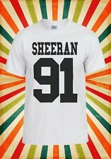 Sheeran 91 Ed Sheeran Pop Singer Men Women Vest Tank Top Unisex T Shirt 2094