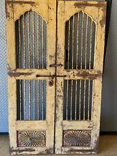 Antique Victorian Pair of Wine Cellar Saloon Doors w Orig Blacksmith Hardware