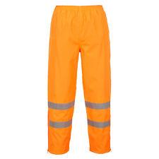 Portwest hombre alta visibilidad transpirable Pantalones NARANJA/Amarillo