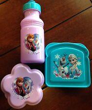 Zak Designs Frozen Disney 3pc. Lunch Set plastic purple and blue