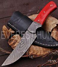 EVEREST HUNT CUSTOM HANDMADE DAMASCUS STEEL HUNTING CAMP SKINNER KNIFE B4-2076
