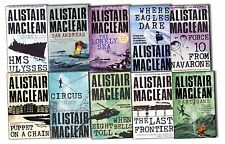 Alistair Maclean 10 Books Collection Pack Set -The Lonely Sea,HMS Ulysses,Circus