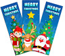Pack of 12 Christmas Bookmarks Reading Teacher Stocking Party Bag Fillers