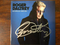 Roger Daltrey As Long As I Have You cd with signed cd booklet autographed