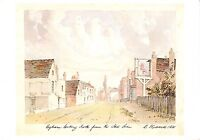 BR76551 egham high street surrey postcard painting   uk