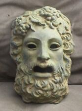 Green aged Roman Greek God Face Theater Mask Decor Dionysus Bacchus Halloween