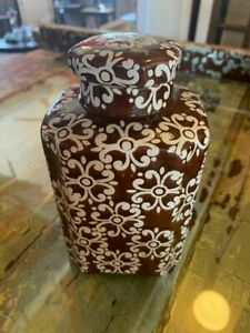 Brown Porcelain Canister