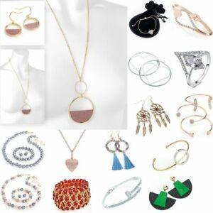 Jewellery Gift Women Chain Pendant Crystal Bracelet Earrings Necklace For Her UK