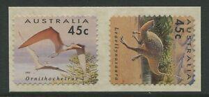 AUSTRALIA'S DINOSAUR ERA 1993 - MINT EX-ROLL SELF-ADHESIVES (G127-RR)