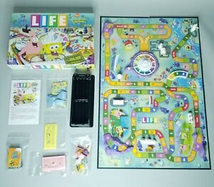 2005 The Game of Life SPONGEBOB SQUAREPANTS Edition Board Game 100% COMPLETE
