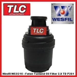 Wesfil Oil Filter - Foton Tunland 2.8 TD Cummins ISF P201 11/12 - on WCO216