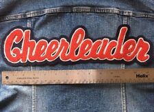 Chenille Patch Cheerleader Red Navy Blue VTG Letterman Sew On Embroidered