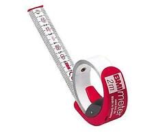 BMI 429341021 Measuring Tape With Stop/belt Clip Red/white 3 M X 16 Mm