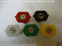 5pc Size 3.5 Pressure Washer Spray Nozzle Tips  4000 PSI  Made In USA