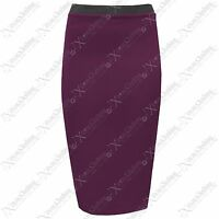 WOMENS BODYCON STRETCH WAIST PENCIL SKIRTS LADIES SKIRT LONG OFFICE WORK SEXY