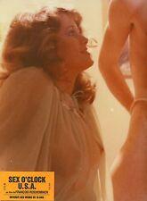 SEX O CLOCK USA 1976 FRANCOIS REICHENBACH 3 RARE VINTAGE PHOTOS LOBBY CARDS LOT