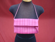 Banana Republic Pink Cow Genuin Leather Evening Women's Clutch handbag bag purse