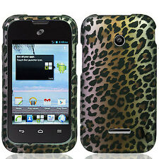 For Huawei Glory H868C Rubberized HARD Protector Case Cover Brown Leopard