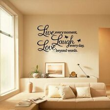 DIY Decal Quote Words Live Every Moment Laugh Every Day Love beyond Wall Sticker