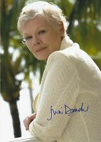 Judi Dench ++ Autogramm ++ James Bond ++ Fluch der Karibik Autograph Red Joan