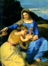 Tiziano Madonna and Child with the Young St. John the Baptist and St. Catherine