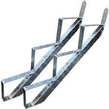 3 Stufen Treppe Stahl-Treppenwange Treppenholm Geschosshöhe 53cm Verzinkt