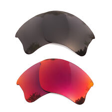 2 Pairs Black&Midnight Sun Replacement Lens for-Oakley Flak Jacket XLJ Polarized