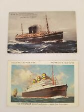 """TWO POSTCARDS OF SHIPS S.S. """"MOOLTAN"""" INDIA-CHINA-AUSTRALIA & T.S.S. STATENDAM"""