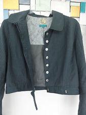NOA NOA  kleine Jacke Jackett  in Meergrün aus Cotton /Leinengemisch Gr. L  G129
