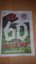 Fußball Stadion(magazin)zeitung FC St.Pauli - 1.FC Kaiserslautern 02.12.2016