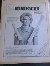 1969 Thorn Minipacks Caravan vintage print Advertising Motor Car Automobilia