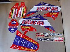 TEAM LUCAS OIL graphics Honda CR125 CR125R  CR250 CR250R 2002-2007 PTS SERIES
