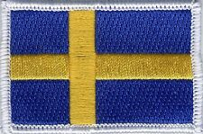 Swedish Flag Sweden Embroidered Badge, Patch 65mm x 43mm