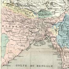 English Colonial Possessions India Hindoostan Burma Birman Bhutan 1855 old map